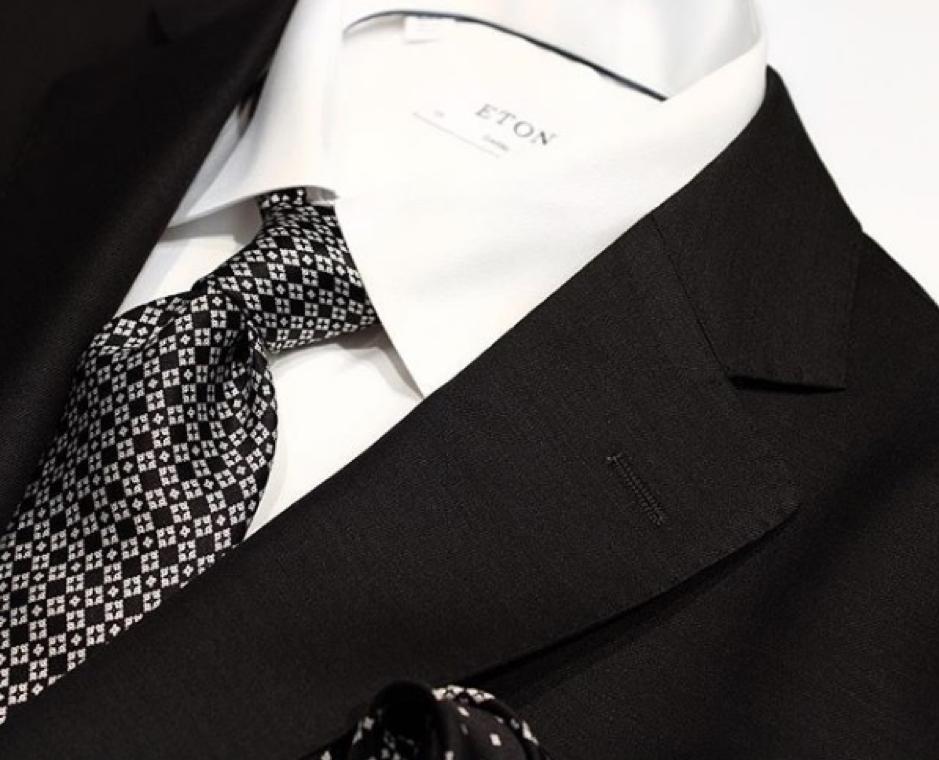 Wedding Suit - Henry Bucks Formal Black & White Suit