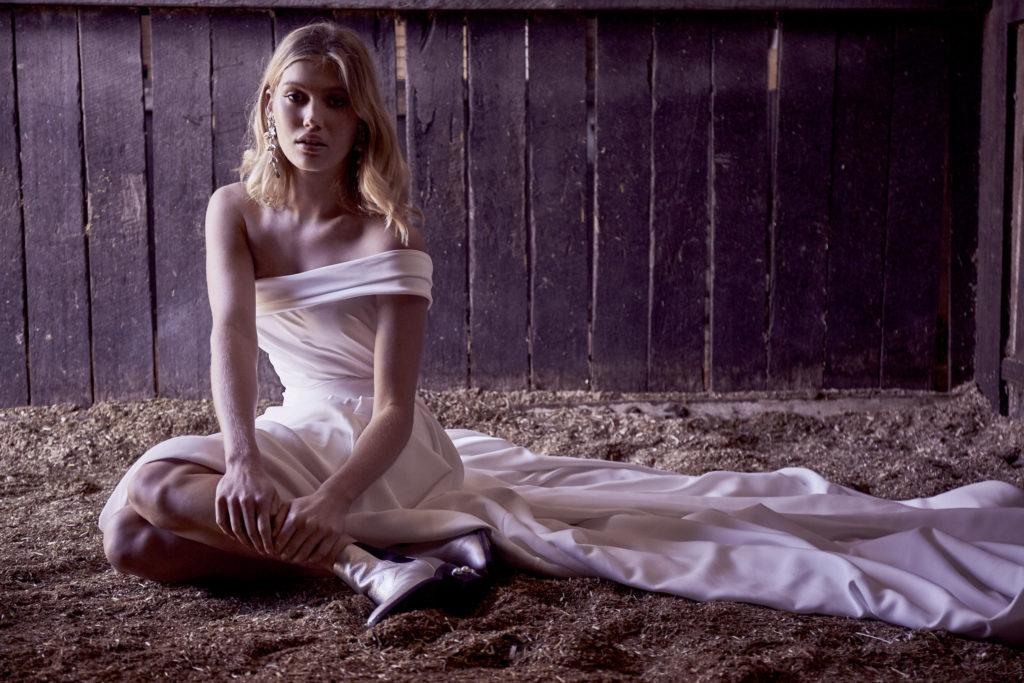 Wedding Dresses - One Strap Silk Wedding Dress