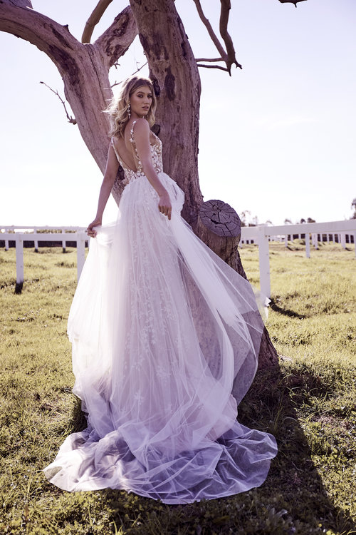 Wedding Dresses - White Lace Wedding Long Gown