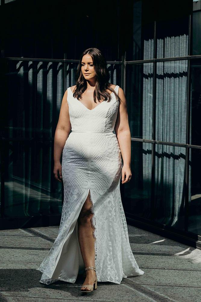 Wedding Dresses - White Wedding Dress over Sunlight