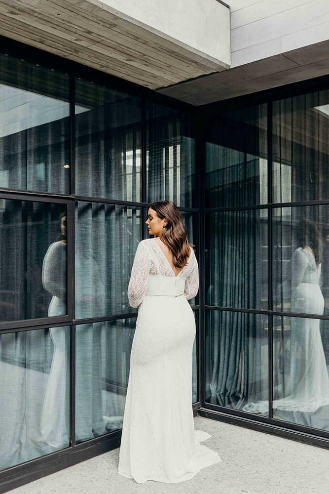 Wedding Dresses - Bride In White With Reflection