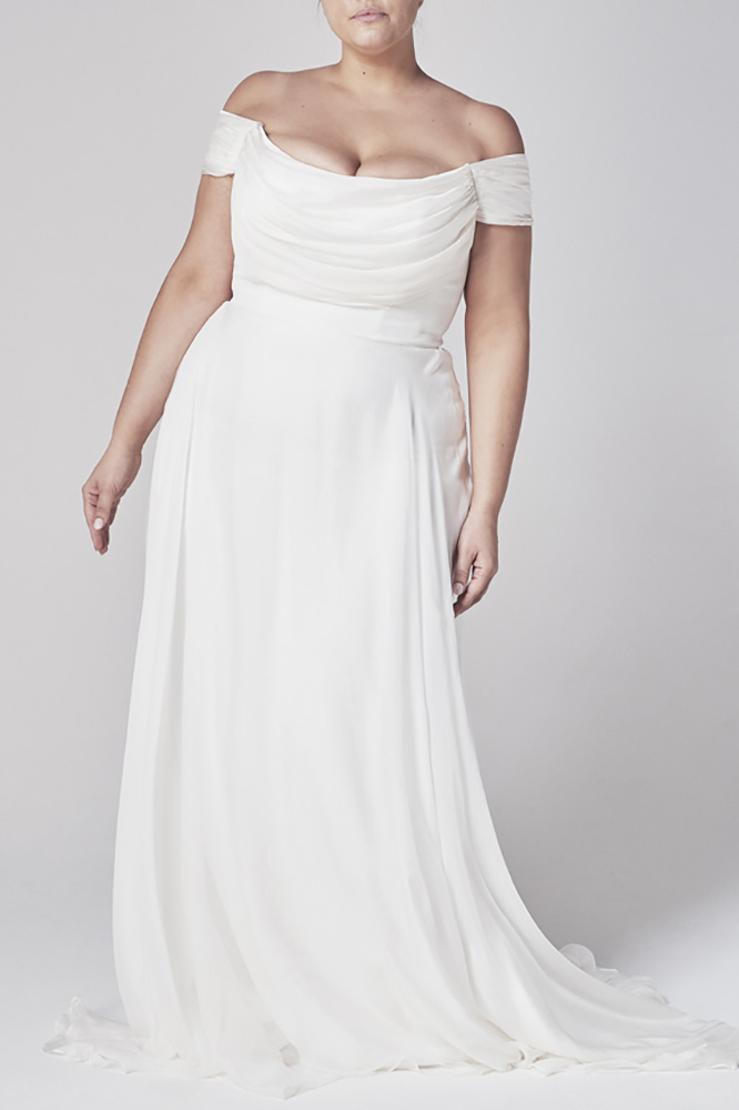 Wedding Dresses - Bride in Long Gown Front Pose