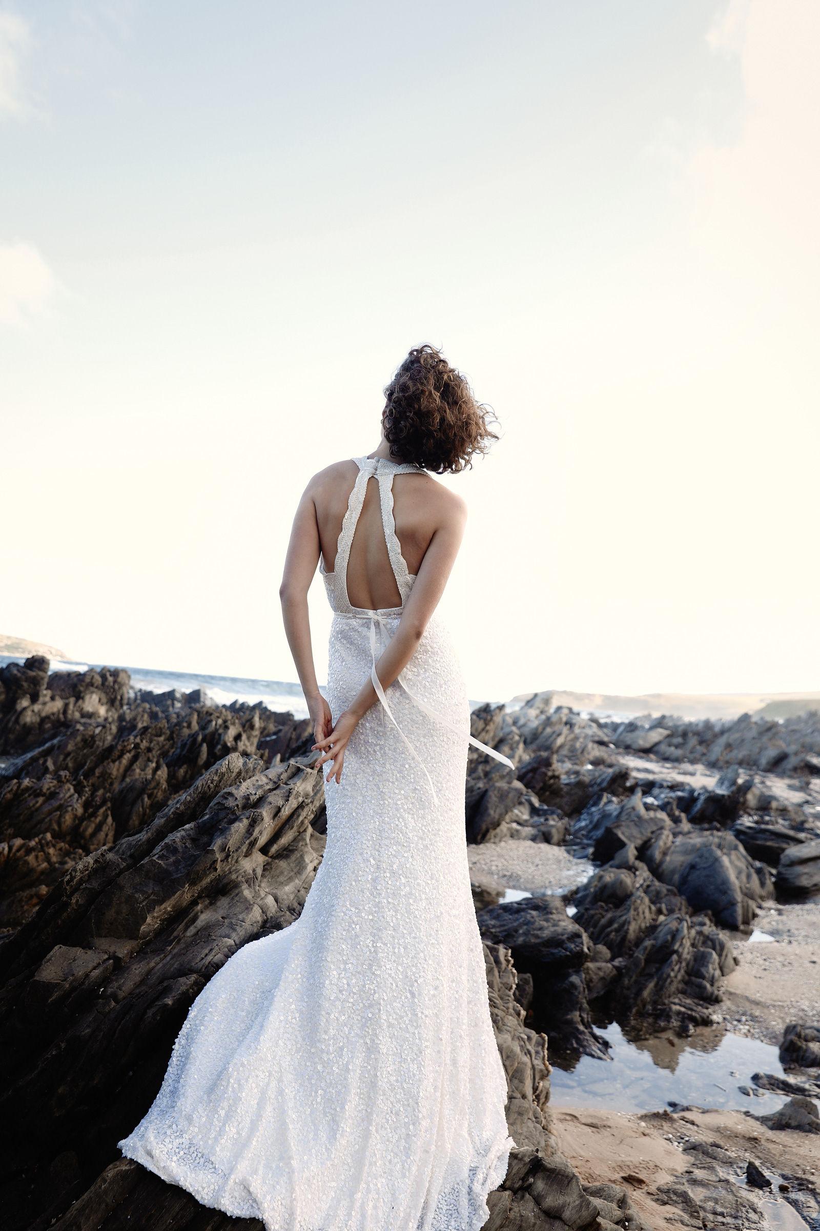 karen willis holmes sequin wedding dress