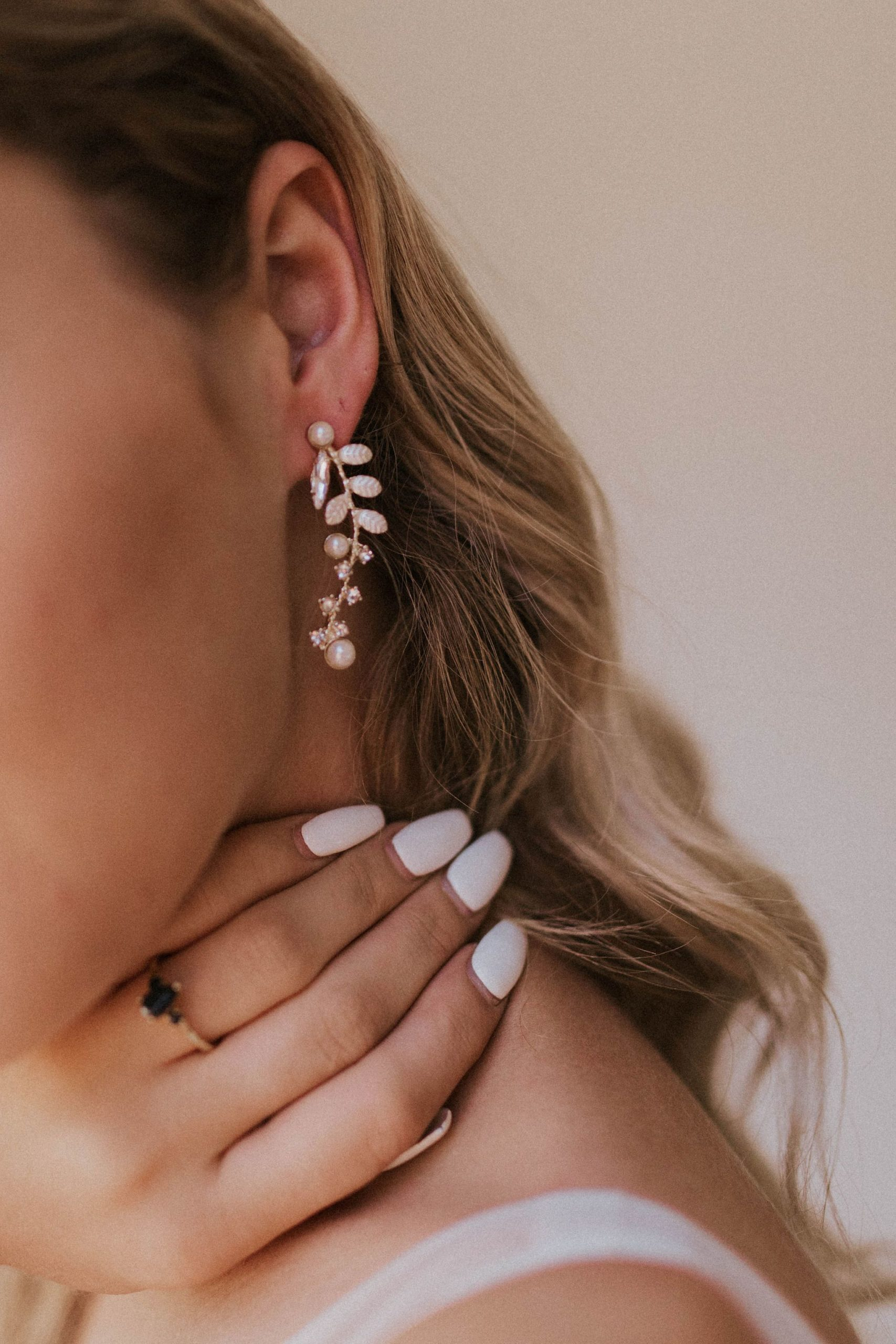 floral earrings wedding