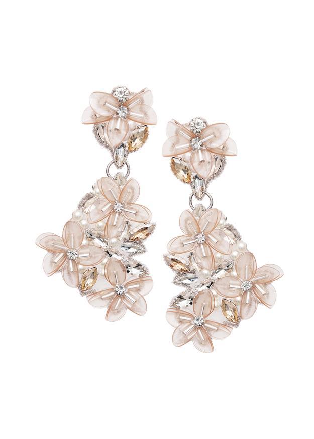 blush bridal earring