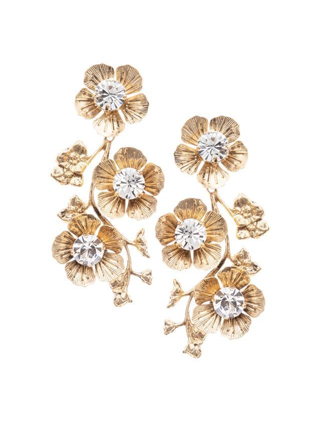 flower dangly wedding earring