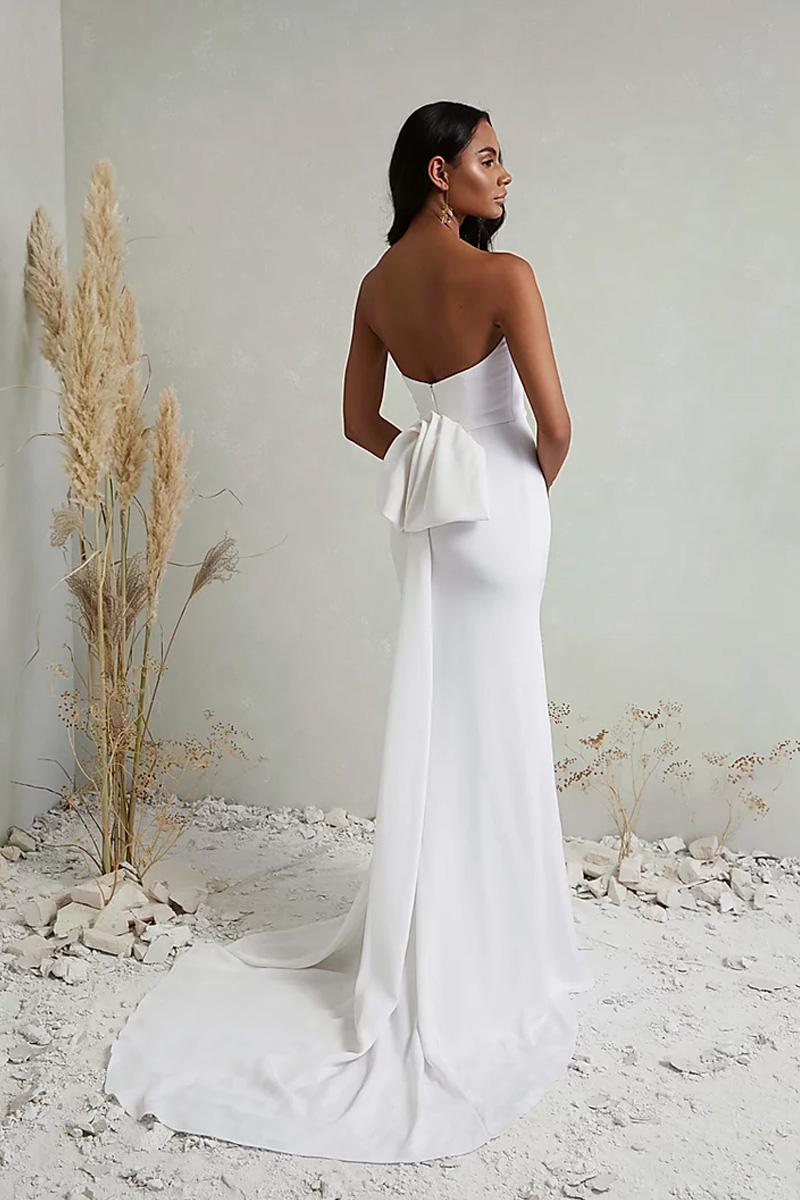 Wedding dress boobs out