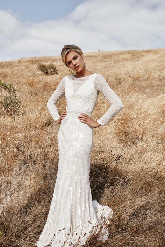 EMEBELLISHED WEDDING DRESS