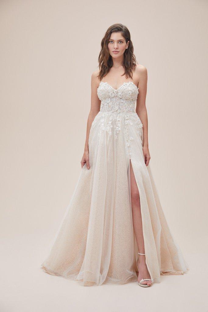 Wedding Dresses - Laceed up White Wedding Dress