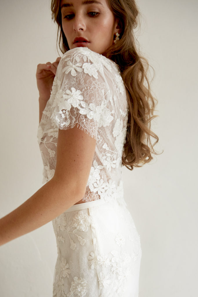bo and luca wedding dress crop top
