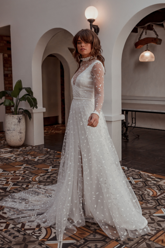 long sleeve wedding dress australia