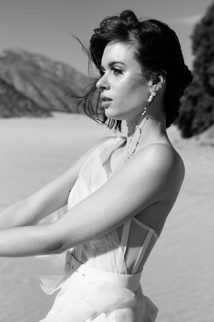Wedding Dresses - Black & White Bride in White Wedding Dress
