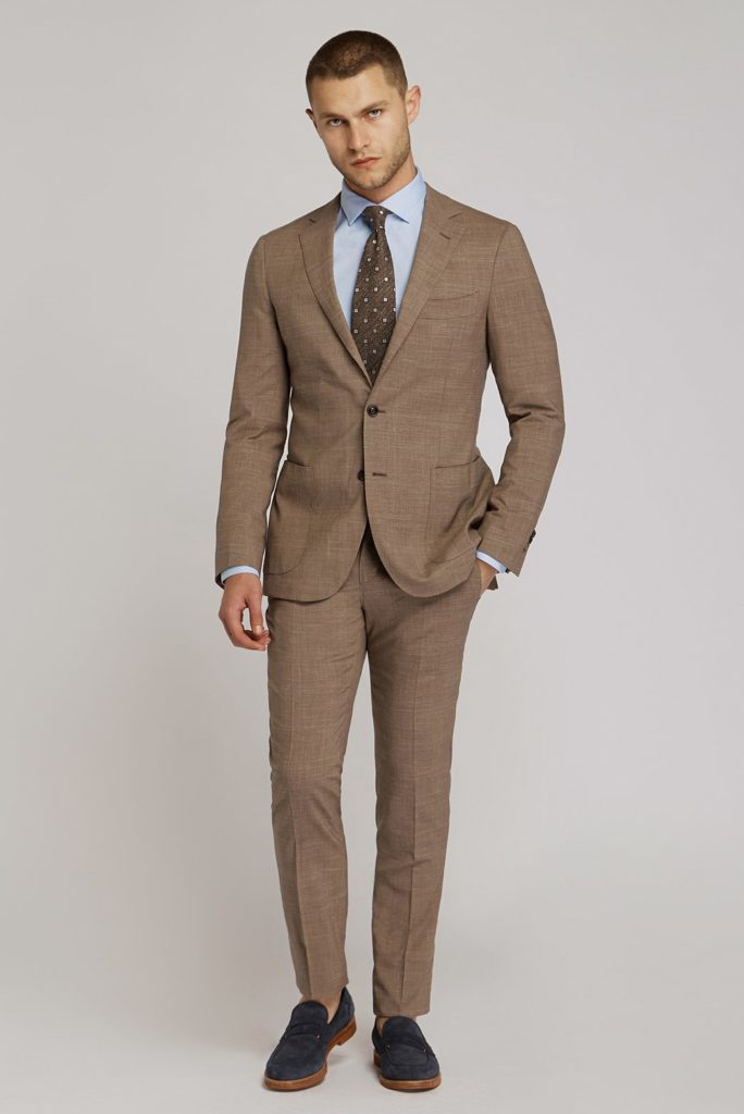 Wedding Suit - Groom With Brown Wedding Suit Whole Body Shot