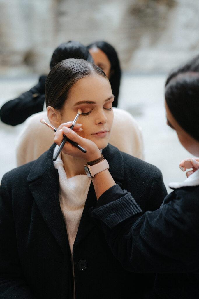 runway bridal makeup