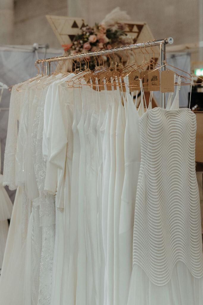 Wedding Expo - Various Style Wedding Dress Hanging
