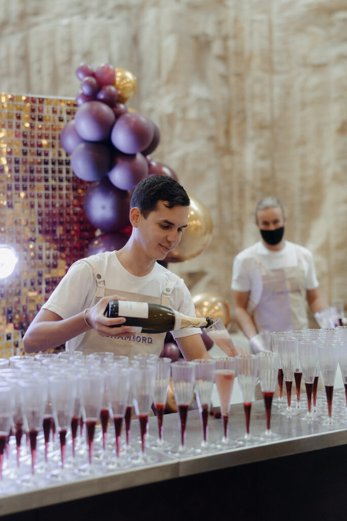 Wedding Expo - Staff Pouring Wine