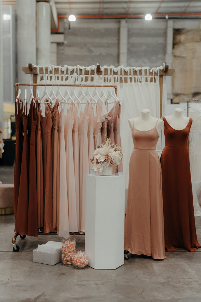 Wedding Expo - Bridesmaids Dresses Hanging