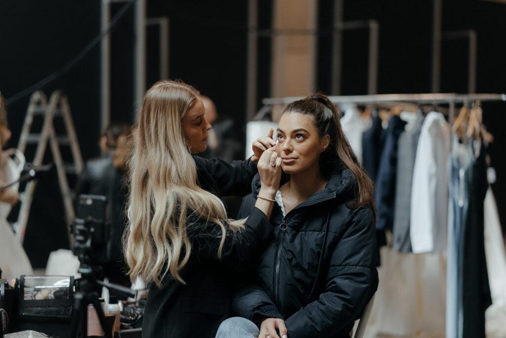 Wedding Accessories - Bride Getting Makeup On