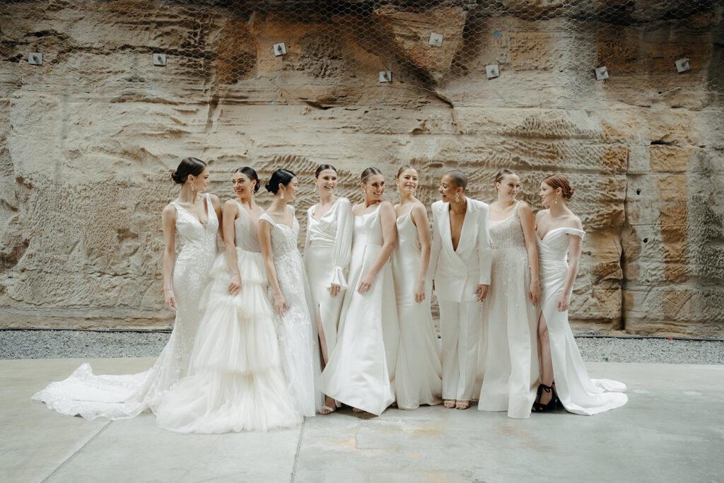 Wedding Accessories - Nine Bride With Different Wedding Hairstyles